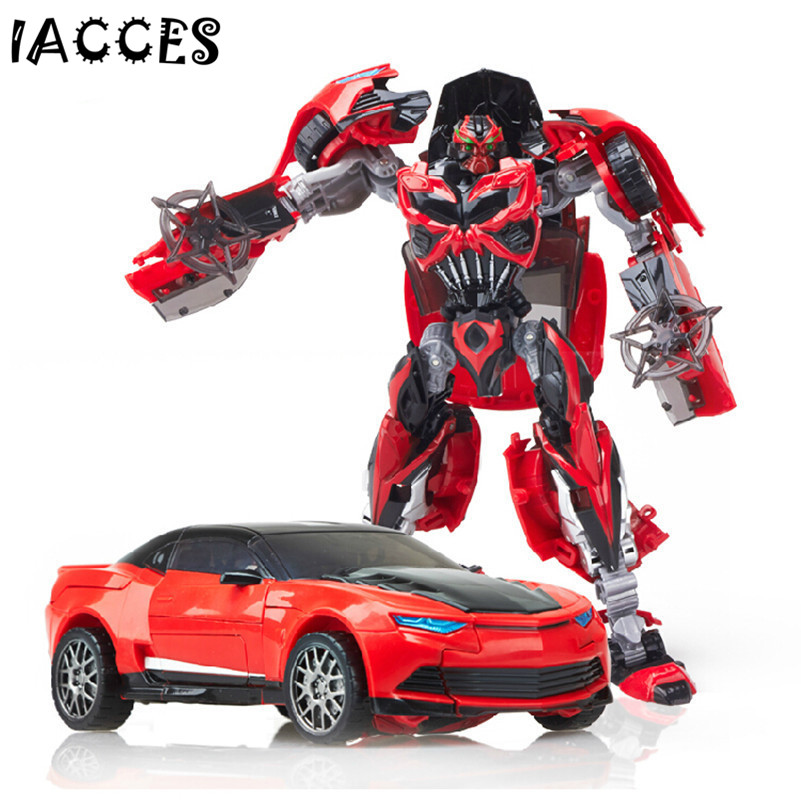 Plastic ABS + Alloy Transformation Action Figure Toys Classic Movie 4 Series Robot Car Cool Juguetes Boy Toys Party Gift